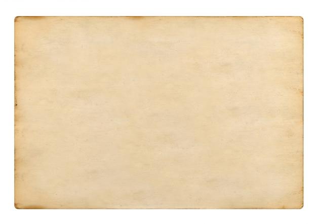 Oud leeg uitstekend document op witte achtergrond, het 3d teruggeven