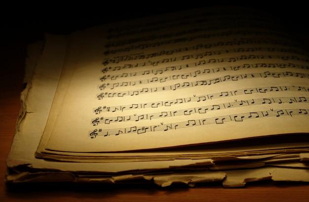 Oud muziekboek