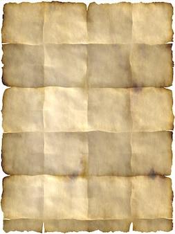 Oud papier gebogen knik perkament briefpapier vouwen