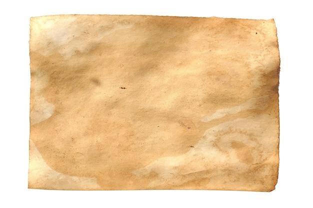 Oud papier geïsoleerd op witte achtergrond