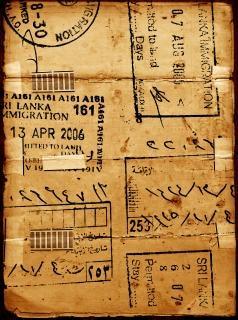 Oud papier gevlekte