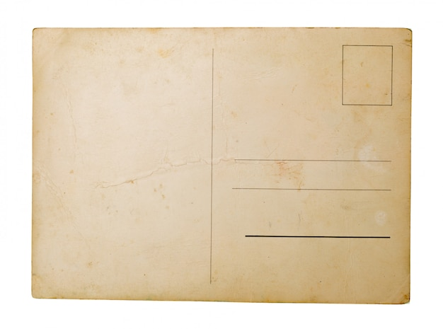 Oud papier op witte achtergrond.