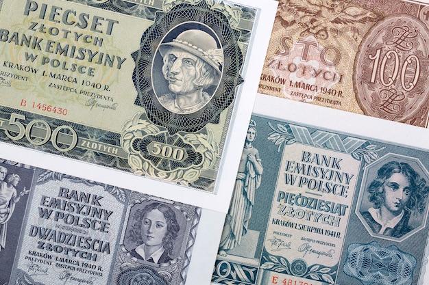 Oud pools geld - zloty, een bedrijfsachtergrond