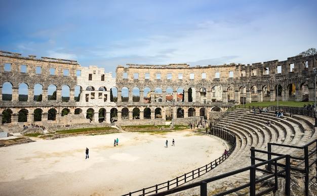 Oud romeins amfitheater in pula, kroatië
