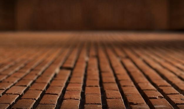 Oud rood bakstenen vloermateriaal voor achtergrond