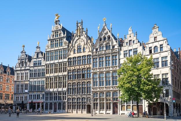 Oud stadsvierkant van antwerpen in belgië