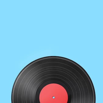 Oud uitstekend vinylverslag dat op gekleurd wordt geïsoleerd