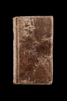 Oud vintage boek geïsoleerd op zwarte achtergrond