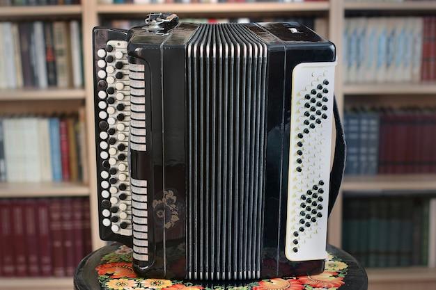 Oude accordeon close-up