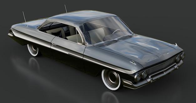 Oude amerikaanse auto in uitstekende staat 3d-rendering