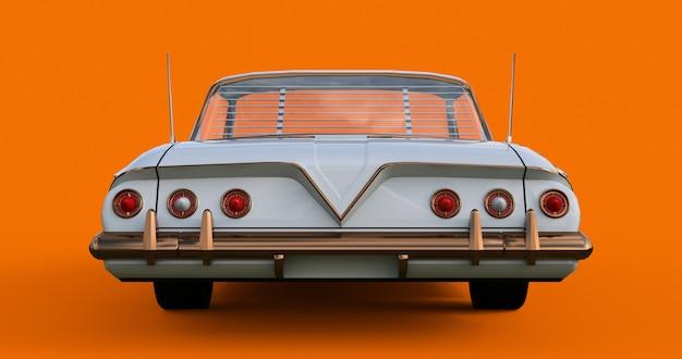 Oude amerikaanse auto in uitstekende staat. 3d-weergave