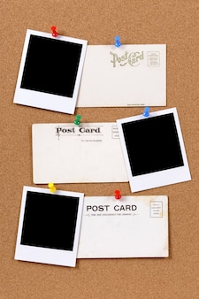 Oude ansichtkaarten met fotoprints