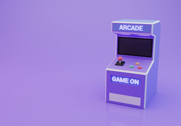 Oude arcade machine 3d-rendering