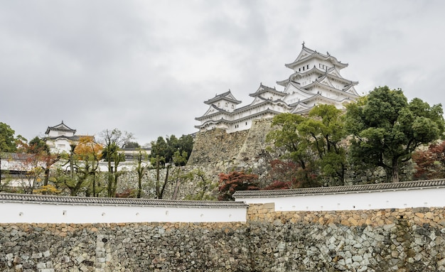 Oude architectuur van himeji castle in hyogo prefecture, japan