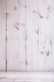 Oude armoedige witte houten muur voor design