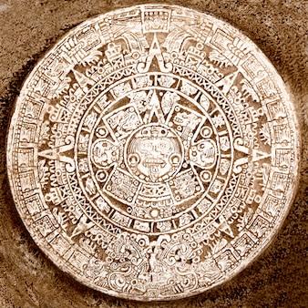 Oude azteekse kalender geïsoleerd