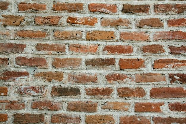 Oude bak stenen muur horizontale brede bak stenen muur achtergrond vintage gevel