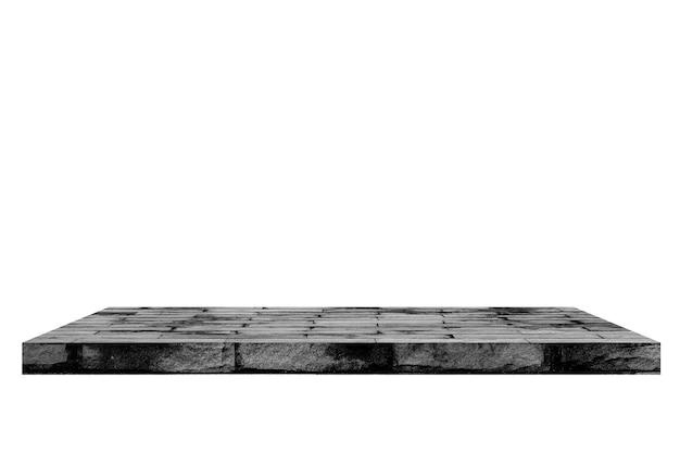 Oude baksteenplank op witte backgorund.