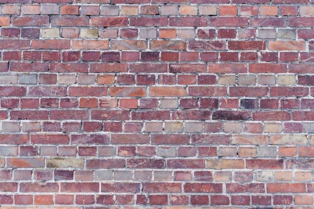 Oude bakstenen muur in een achtergrondafbeelding.