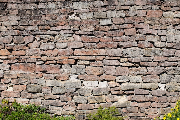 Oude bakstenen muur (steen, achtergrond, textuur)