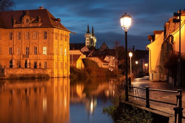 Oude binnenstad van bamberg, beieren, duitsland