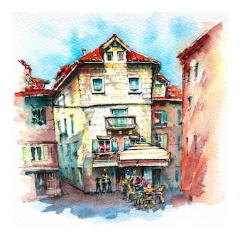 Oude binnenstad van split, kroatië