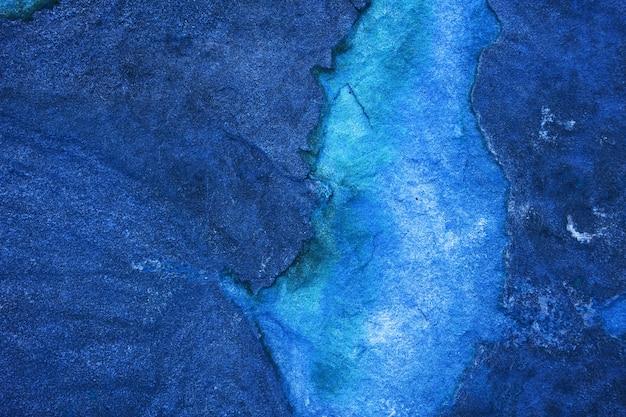 Oude blauwe minerale granieten stenen oppervlak van de grot