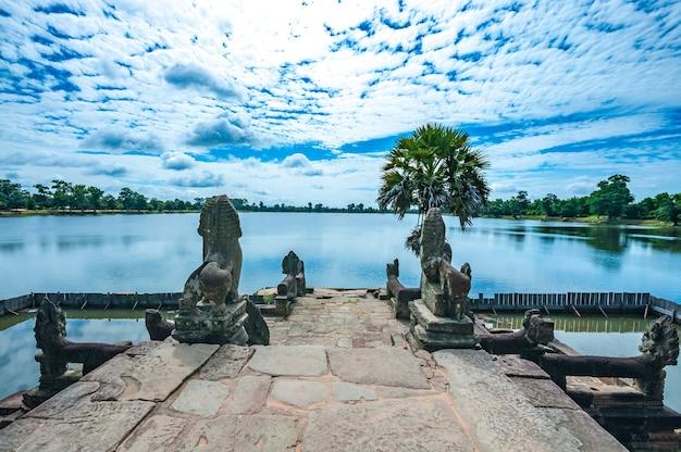 Oude boeddhistische khmer tempel in angkor wat, cambodja.