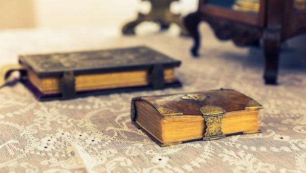 Oude boeken in museum