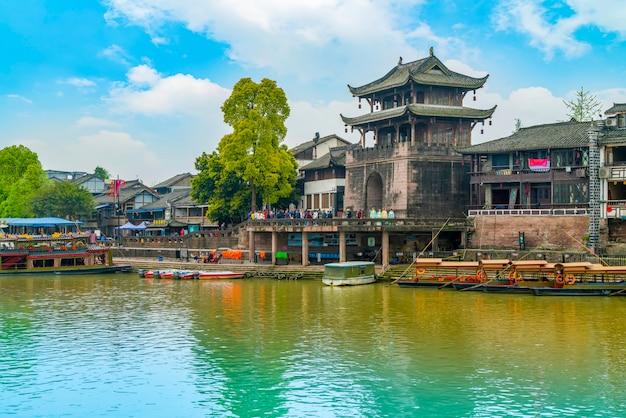 Oude boogstad beroemde iconische traditionele