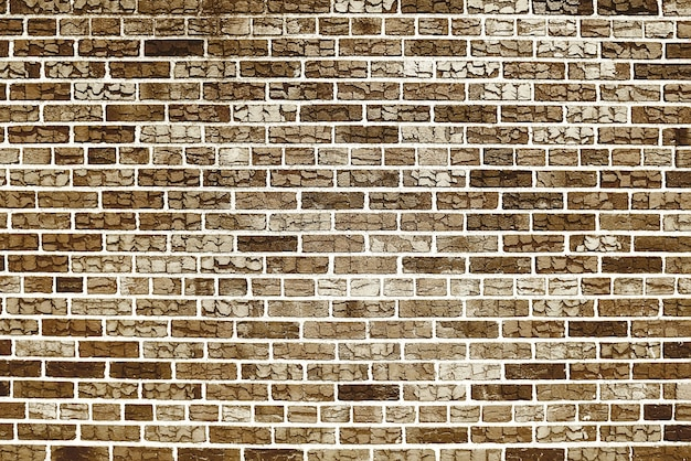 Oude bruine bakstenen muurtextuur als achtergrond
