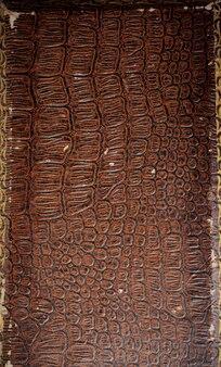 Oude bruine lege leer of papier textuur.