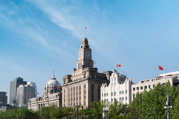 Oude bund-gebouwen in shanghai