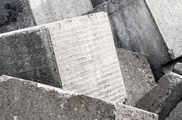 Oude concrete van de blokmuur textuur als achtergrond