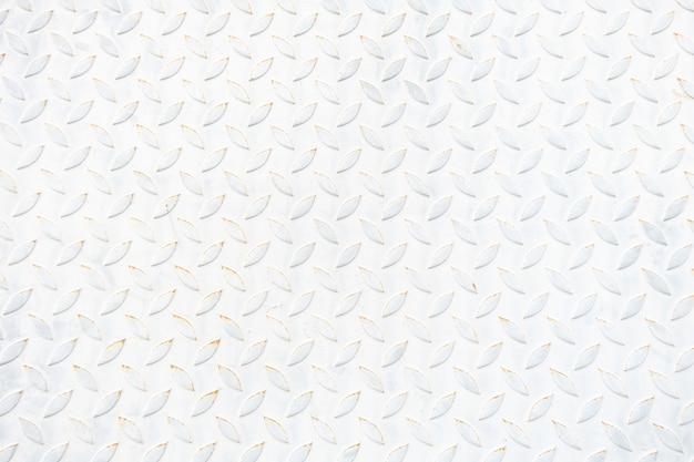 Oude de plaattextuur en achtergrond van de witmetaalvloer. lege kopie reserveonderdelen.