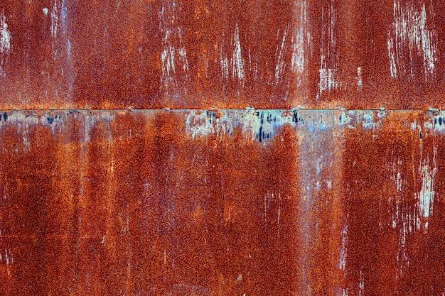 Oude de textuurachtergrond van het grunge roestige metaalblad.