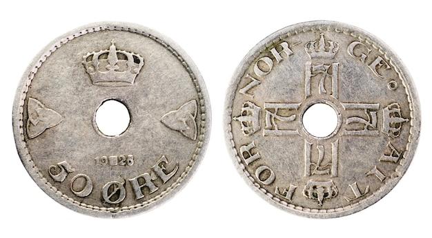 Oude denemarken-munt van 50 ore