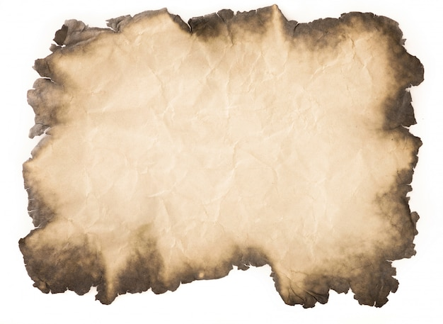 Oude document verouderde wijnoogst of textuur op witte achtergrond