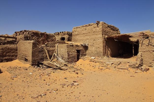 Oude dongola in soedan, afrika