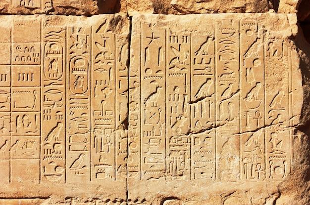 Oude egypte hiërogliefen