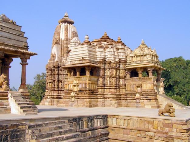 Oude erotische tempel in khajuraho, madhya pradesh