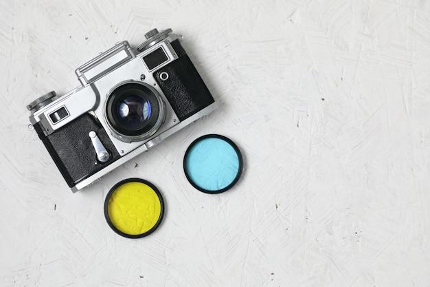 Oude film camera concept.