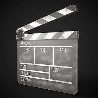 Oude filmklapper 3d-rendering
