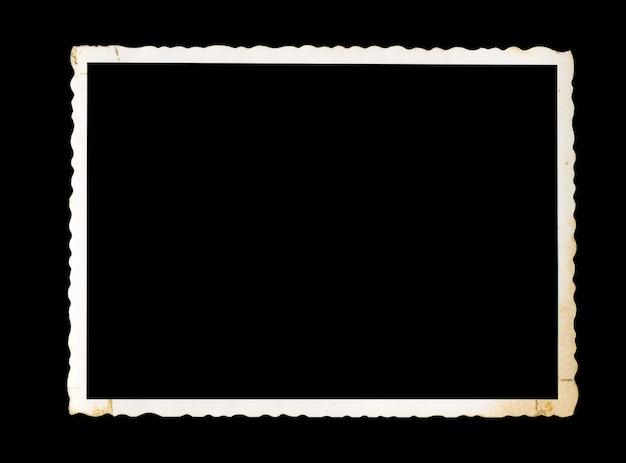 Oude foto met uitknippad voor de binnenkant, lege vintage frame