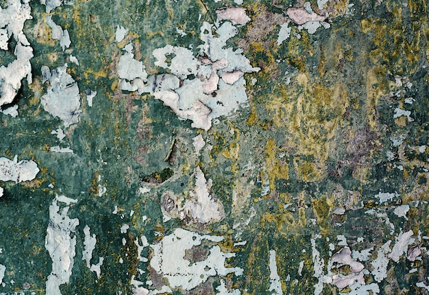 Oude gebarsten pleister op de muur. grunge betonnen structuur.