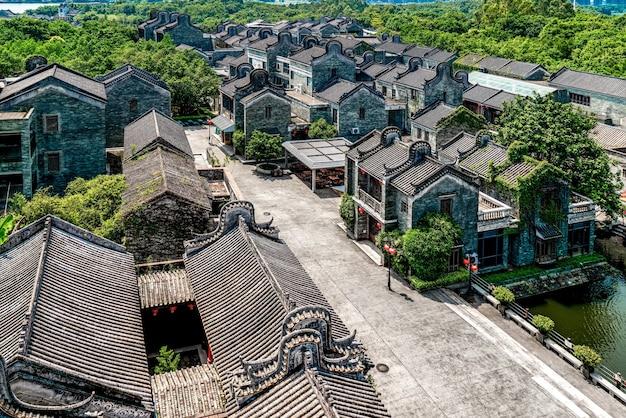 Oude gebouwen en huizen in guangzhou lingnan