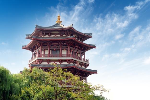 Oude gebouwen: pagode. xi'an, china.