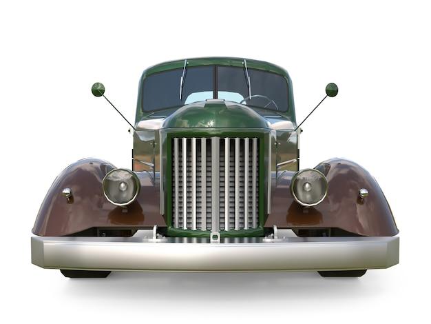 Oude gerestaureerde pick-up. pick-up in de stijl van hot rod. 3d-weergave