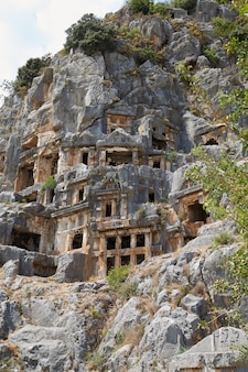 Oude graven in de stad mira, turkije