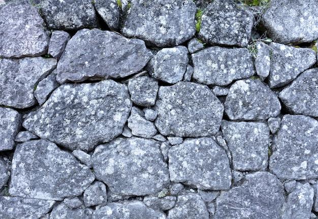 Oude grijze stenenmuur